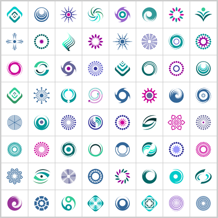 Design elements set. Abstract color icons. Vector art.
