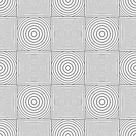 Seamless geometric checked pattern. Lines texture on white background. Vector art.