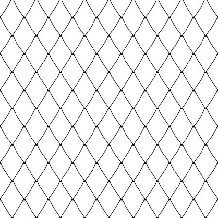 Seamless diamonds pattern. Lattice mesh netting texture. Vector art.