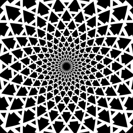 Geometric rotation pattern. Abstract design. Vector art.