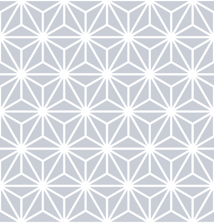 Seamless triangles, diamonds and hexagons pattern. Geometric texture. 3D illusion effect. Vector art.
