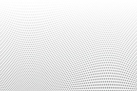 Stars pattern. Wavy movement illusion. Vector art.
