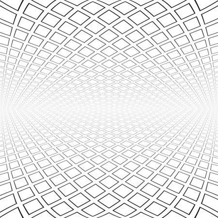 Abstract geometric architectural background. Vector art.