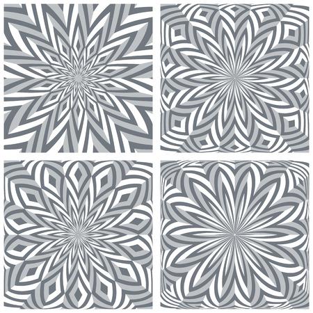 3d geometric rotation patterns set. Vector art. Stock Vector - 123990049