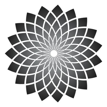 Élément de conception. Motif géométrique abstrait. Art vectoriel.