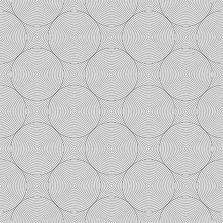 Seamless circle lines pattern. Geometric texture. Vector art.