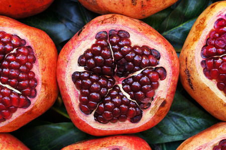 Pomegranates at the street market, Istanbul, Turkey. 写真素材
