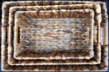 Wicker baskets at the street market in Istanbul, Turkey. 写真素材