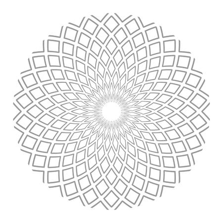 Élément de conception de cercle. Motif géométrique abstrait. Art vectoriel.