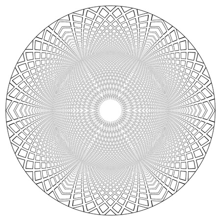 Circle geometric 3D pattern. Vector art.