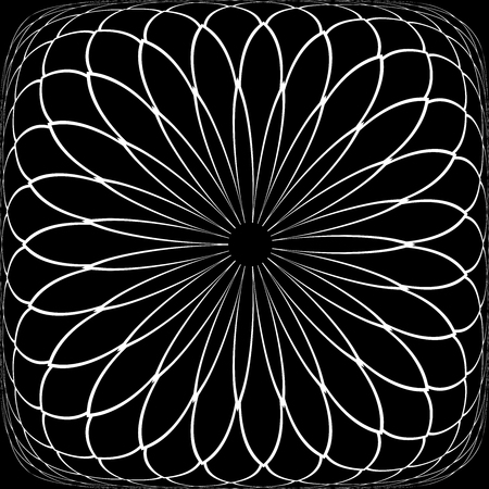 Abstract convex geometric pattern. Latticed texture. Vector art.
