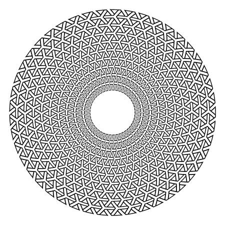 Circle geometric pattern. Design element. Vector art.  イラスト・ベクター素材