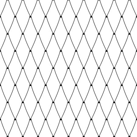 Patrón de diamantes sin fisuras. Textura de malla de celosía. Arte vectorial.