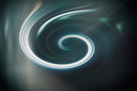 Spiral movement of water whirlpool. Illustration.