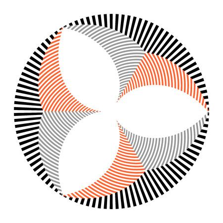 Circle geometric striped pattern. Design element. Vector art.