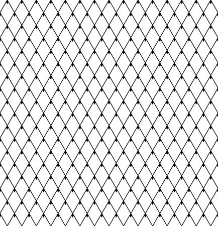Seamless geometric diamonds pattern. Lattice mesh texture. Vector art. Ilustrace
