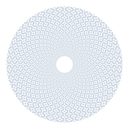 Circle geometric pattern. Design element. Vector art. Ilustração