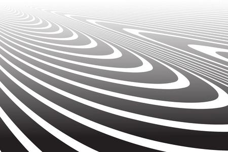 Wavy lines texture. Abstract design. Vector art