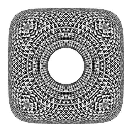Abstract geometric pattern. Convex texture. Vector art.