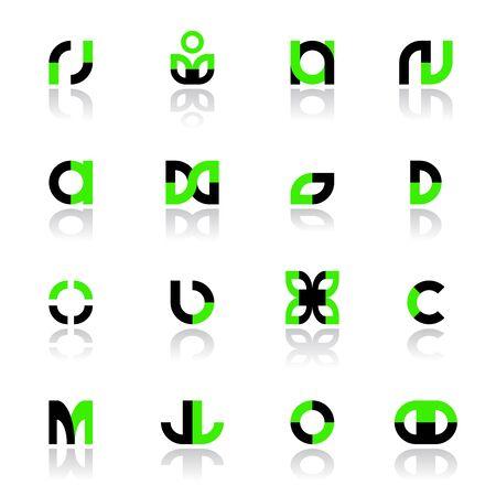 Design elements set for logos and other design. Vector art.