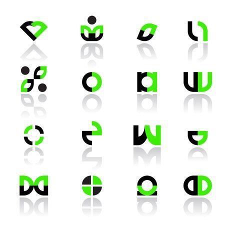 Design elements set for logos and other design. Vector illustration.