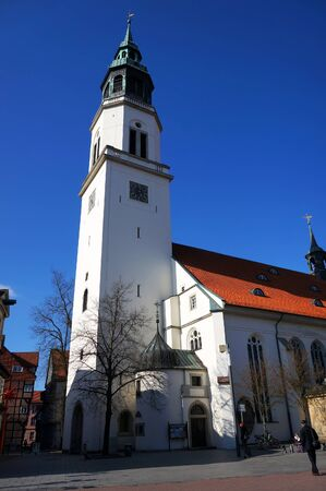 Celle, Germany - April 21, 2016: St.Marien Town Church in Celle, Germany.