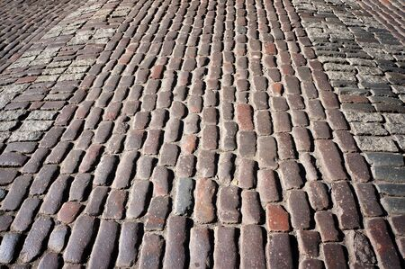 Old traditional stone sett paving.