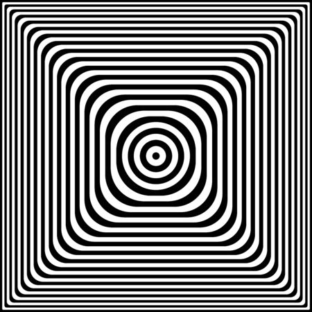 Abstract geometric pattern. Black and white lines texture. Vector art.