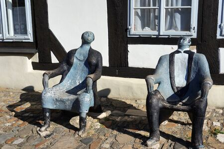 Goslar, Germany - April 21, 2016: Sculpture made by Vera Keune