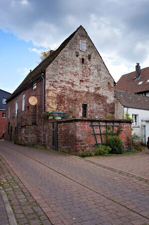 Bodenwerder, Germany - April 20, 2016:  St Gertrude Chapel, the first mention of which dates back to 1407.