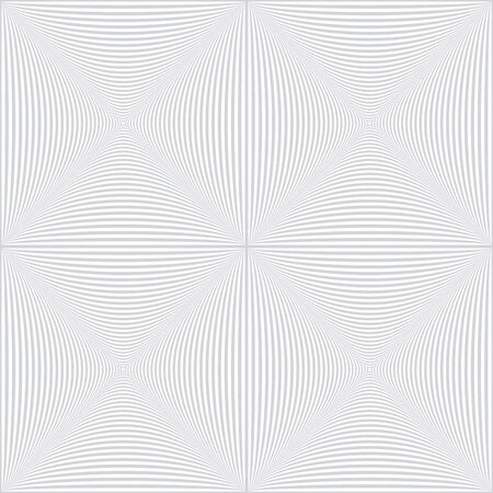Seamless checked op art pattern. Lines texture. White textured background. Vector art.
