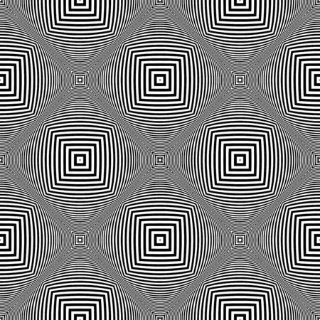 Seamless diagonal checked pattern. 3D illusion. Vector art.