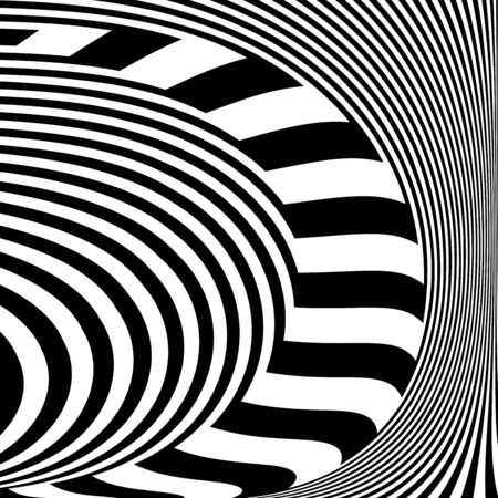 Abstract op art design. Lines texture. Vector illustration.