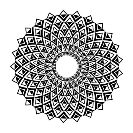 Circle geometric pattern. Decorative design element. Vector art. 矢量图像