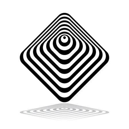 Abstract geometric icon. Design element. Vector art.