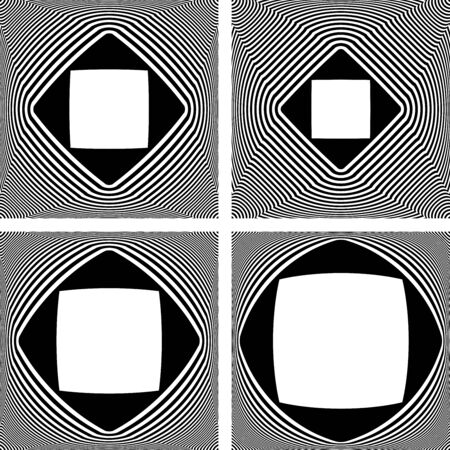 Abstract geometric convex designs elements. Vector art.