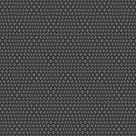 Abstract seamless lacy net pattern. Black texture on dark grey background. Vector art.