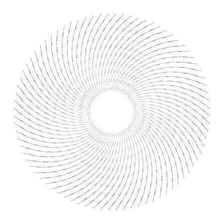 Abstract circle design element. Rotation movement. Vector illustration. Ilustrace