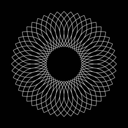 Circle lacy pattern. Lattice grid texture. Abstract geometric design element. Vector art. Ilustrace