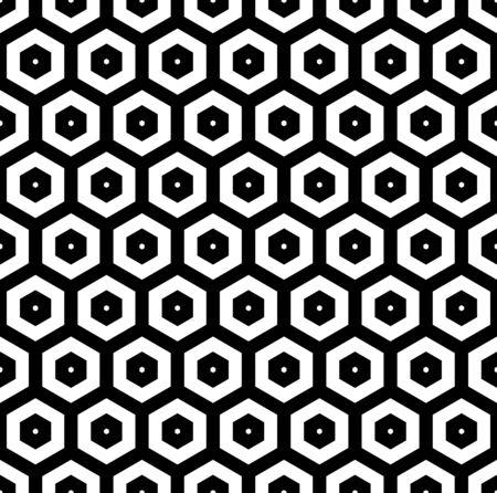 Abstract seamless geometric hexagons pattern. Vector art. Ilustrace