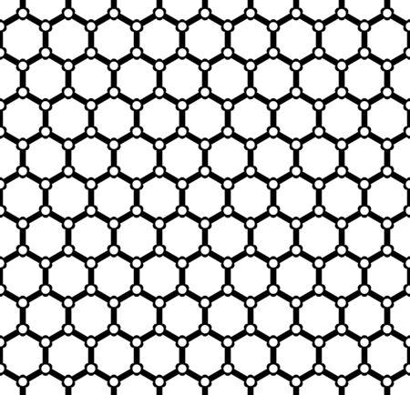 Seamless geometric hexagons grid pattern. Vector art.