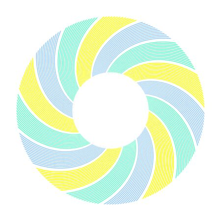 Abstract decorative circle design element. Lines pattern. Vector art.