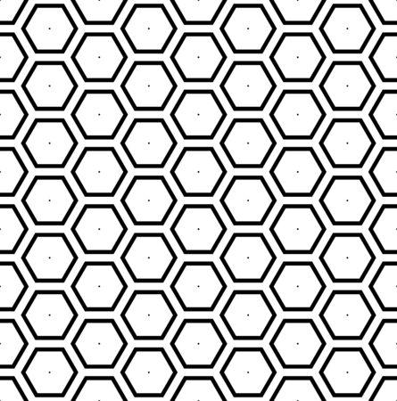 Seamless geometric hexagons honeycomb pattern. Vector art.