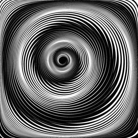 Abstract spiral swirl motion. Vortex illusion. Vector art