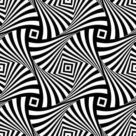 Abstract seamless geometric op art pattern. Vector illustration. Ilustrace