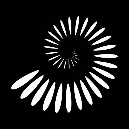 Abstract spiral icon. Design element. Vector art. 일러스트