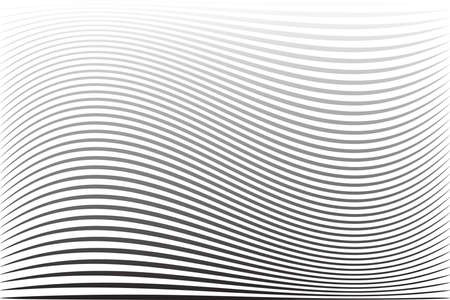 Abstract wavy lines striped texture and background. Vector art. 矢量图像