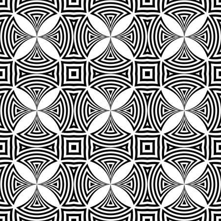 Decorative geometric seamless pattern and texture. Vector art.