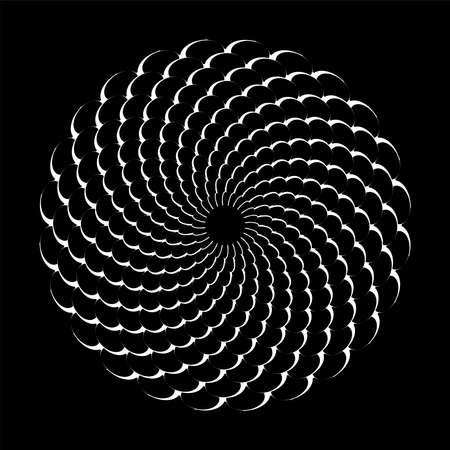 Abstract circle rotation circular pattern. Vector art.