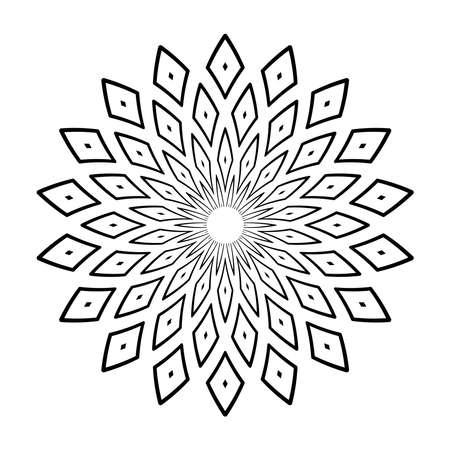 Abstract decorative geometric circle pattern design element. Vector art.